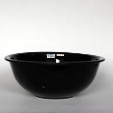 vintage Pyrex clear glass bottom black bowl/2.5L/325/mixing bowl by suesuegonzalas