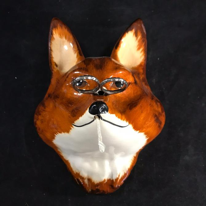 String Holder Fox Philip Laureston Hand Decorated Babbacombe Pottery England Vintage by accokeekpickers