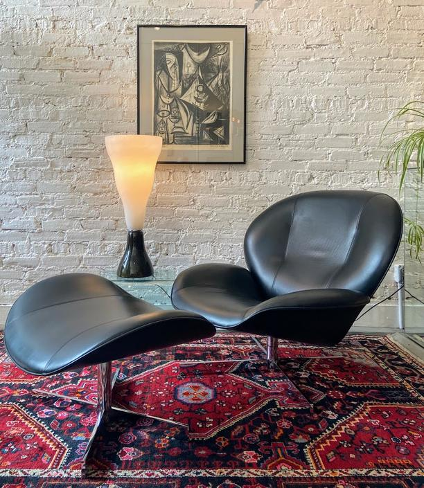 Pascal Mourgue Myo Chair and Ottoman for Ligne Roset