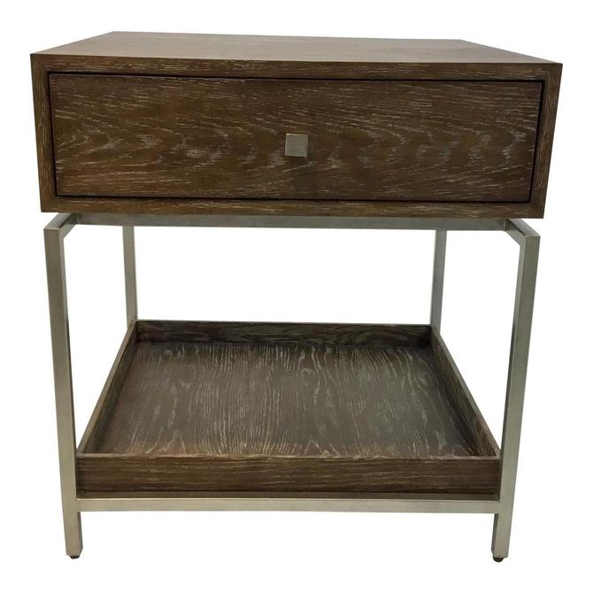 Studio a Oak and Silver Alexander Side Table