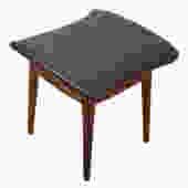 Drexel Declaration Walnut Ottoman w/ New Upholstery