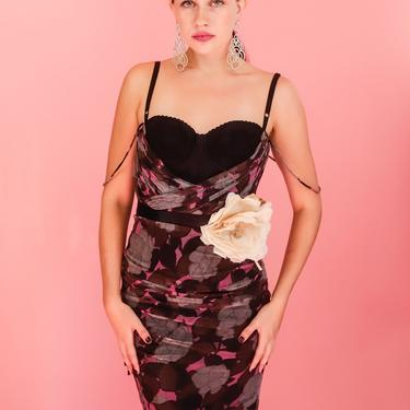 Dolce & Gabbana 1990's Bustier Mesh Dress by TheKitVintage