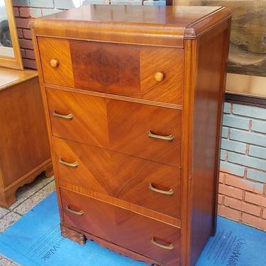 SOLD. Four Drawer Deco Chest, 32