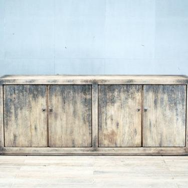 Chinese Sideboard with Four Doors and Restoration