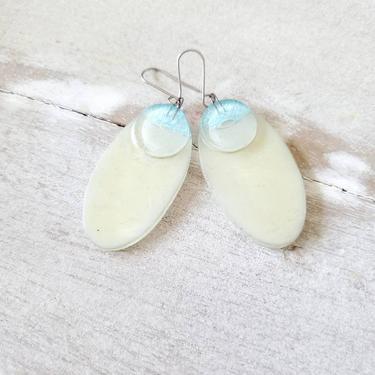 Ayla layered glass earrings, handmade earrings, vintage jewelry, dangle earrings by ErstwhileStyle