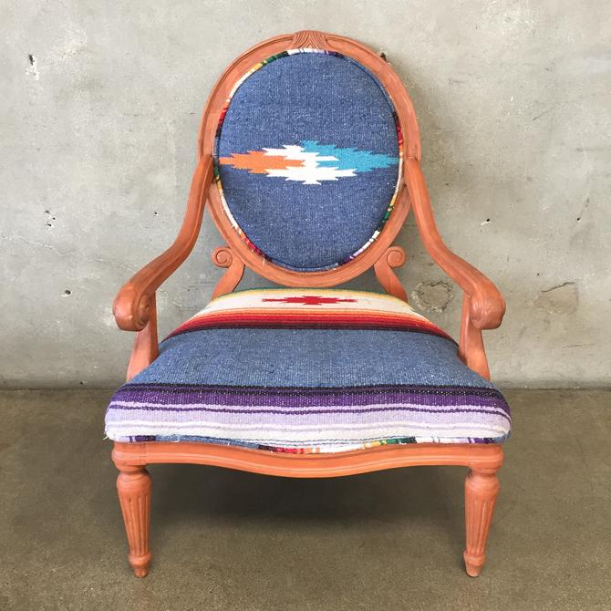 Traditional Chair With Navao Style Upholstery