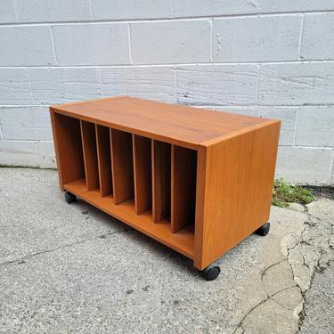 Vintage Teak Record Storage