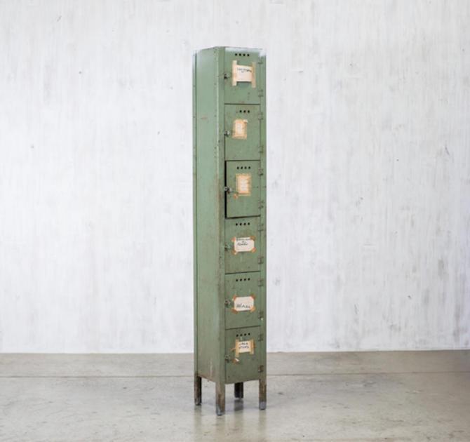 Six-cubby Factory Locker