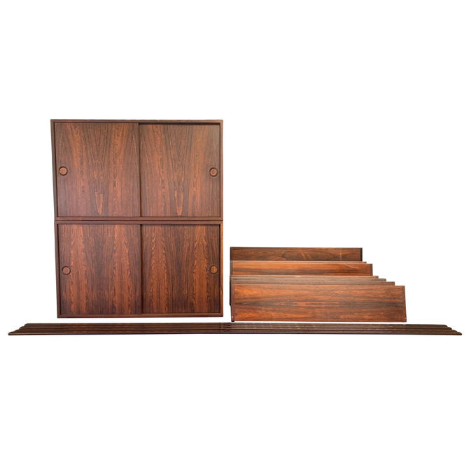 Vintage Danish Mid Century Modern Rosewood Wall Unit by Kai Kristiansen by AymerickModern