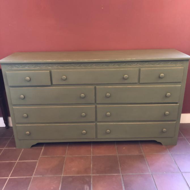 Green Hand Painted Dresser