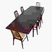 Danish Modern Rosewood Rectangular Expanding Dining Table