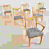 Blonde Vintage Dining Chair Set Chairs