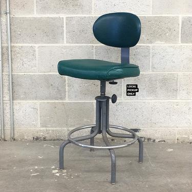 LOCAL PICKUP ONLY ———— Vintage Drafting Chair by RetrospectVintage215