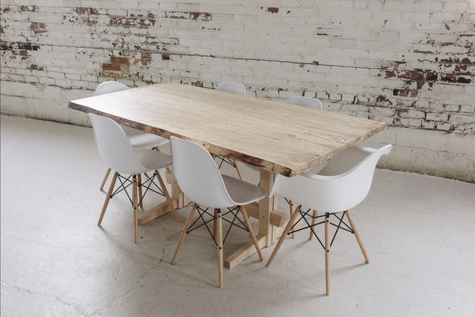 Scandinavian Style Dining Table - Live Edge Spalted Maple Dining Table - Custom Hardwood Furniture by StocktonHeritage