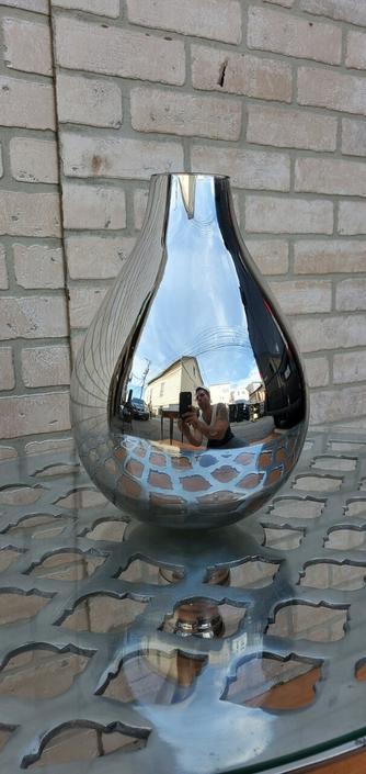 Mid Century Mercury Glass Bottle
