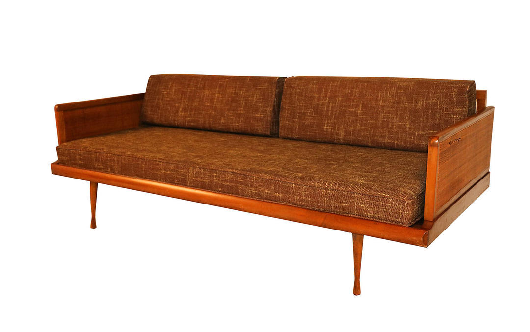 Mid Century Modern Convertible Sofa Peter Hvidt Style By