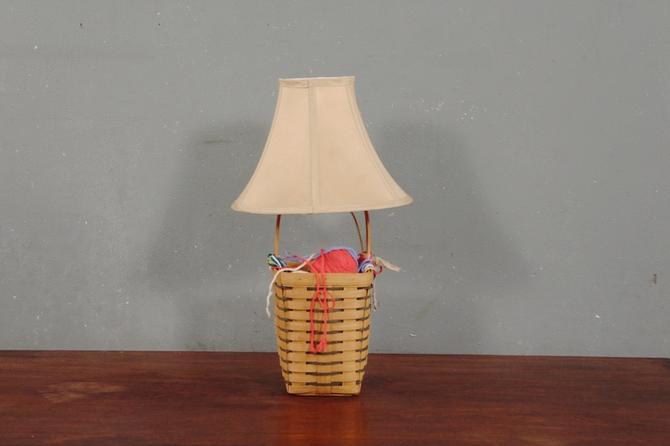 Yarn Basket Table Lamp