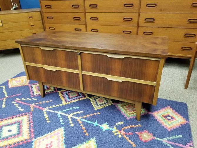 Mid-Century Modern walnut blanket chest by Lane