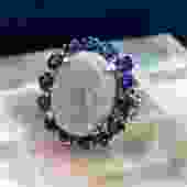 Lightning Ridge Opal and Sapphire Cocktail Ring c1920