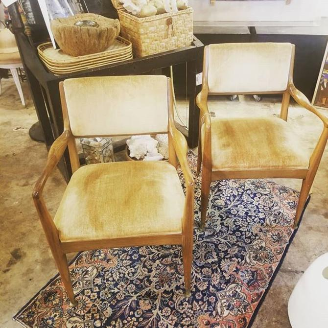 Pair of Mid Century Arm Chairs. $500