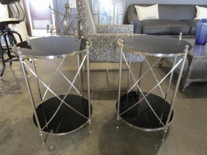 PAIR OF BALLARD DESIGN SIDE TABLES