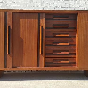 Mid Century Modern Italian Modern Teak Cabinet by VintageVaultTulsa
