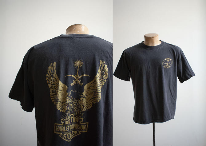 Vintage Harley Davidson Tshirt / Vintage Harley Tee / Vintage Desert Storm Tshirt / Vintage 1990s Harley Tshirt / 1980s Harley Tshirt by milkandice