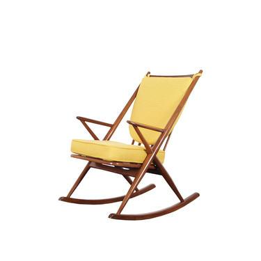 Danish Modern Walnut Rocking Chair by Frank Reenskaug
