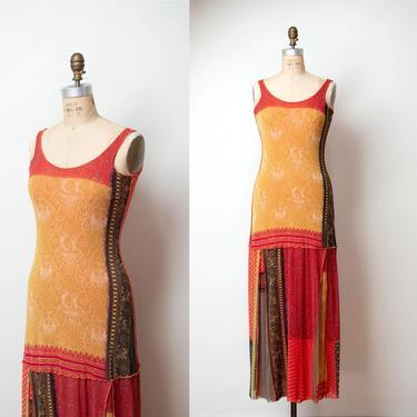 Mixed Print Mesh Dress   Jean Paul Gaultier by FemaleHysteria