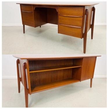 mid century Danish modern authentic Svend Madsen double sided executive desk by AtomicJunkiesGallery