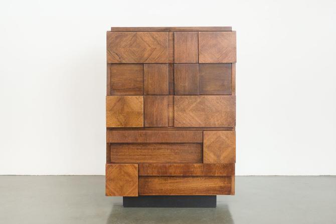 Brutalist Highboy Dresser by HomesteadSeattle