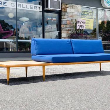 mid century Adrian Pearsall / George Nelson styled asymmetrical platform sofa by AtomicJunkiesGallery