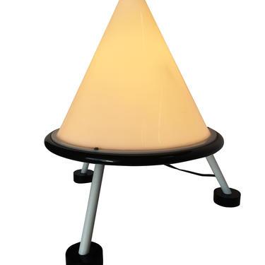 Post Modern Acrylic Geometric Cone Table Lamp by HarveysonBeverly