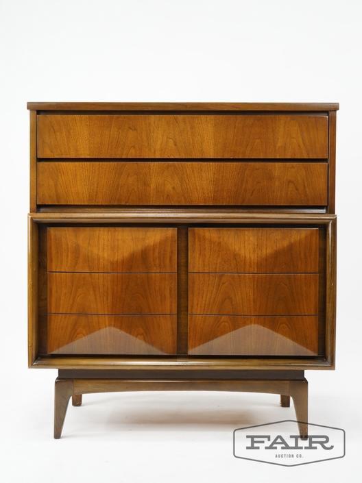 United Furniture Tall Walnut Dresser