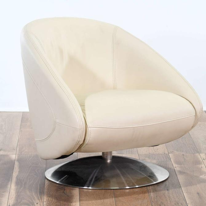 Contemporary Space Age Barrel Back Swivel Chair