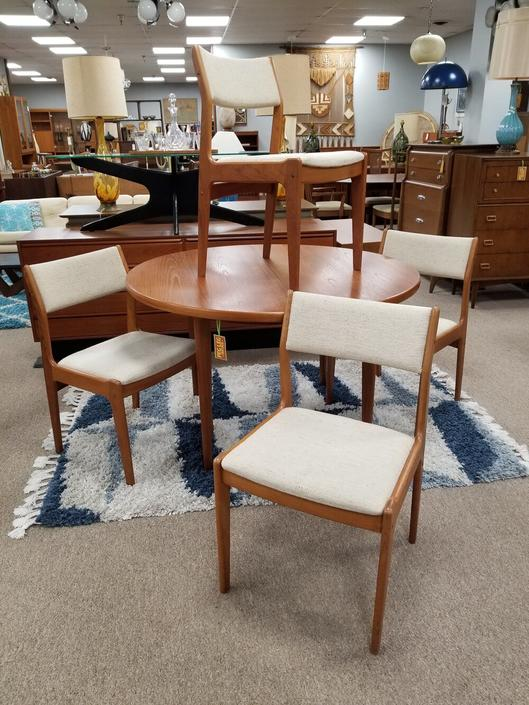 Set of four Danish Modern teak dining chairs