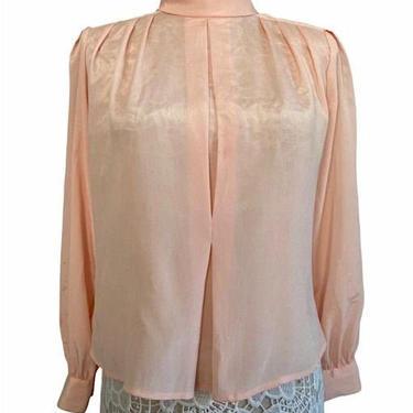 Light Pink Vintage High collar Shirt by InstantVintage78