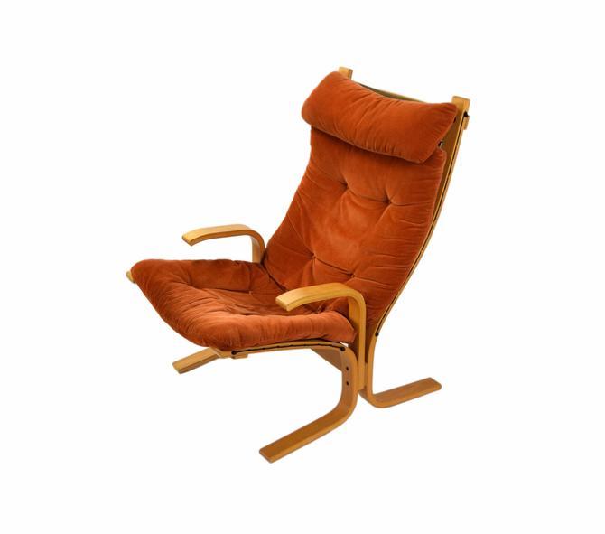 Vintage Mid-Century Modern Bentwood Armchair Lounge Westnofa Siesta Style by PrairielandArt