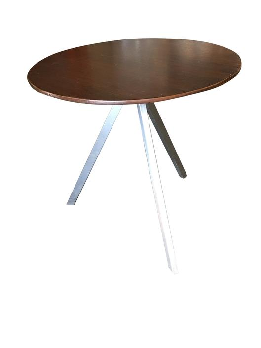 Small Tripod Leg Side Table with Round Knife Edge Top by HarveysonBeverly