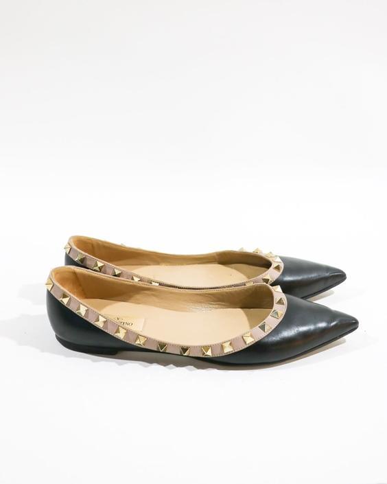 Valentino The Rockstud Flats, Size 41