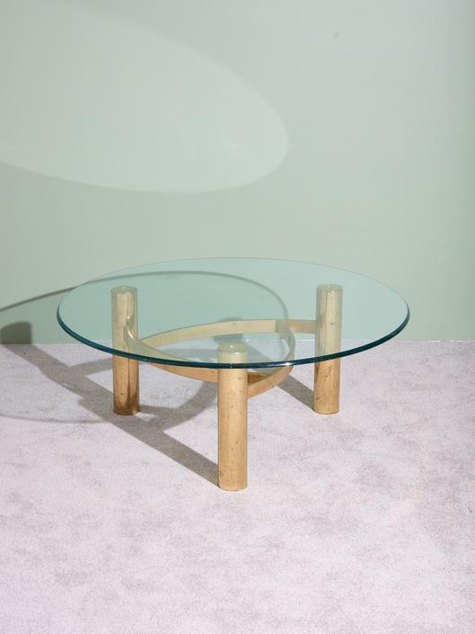 Circular Brass Coffee Table