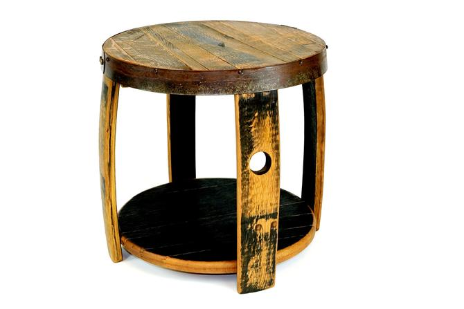 Bourbon Barrel Nightstand - Repurposed Furniture - Rustic End Tables by HungarianWorkshop
