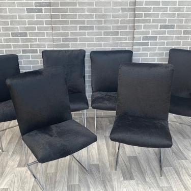 Vintage Mid Century Modern Milo Baughman for Thayer Coggin Thin Line High Back Dining Chairs Newly Upholstered - Set of 6