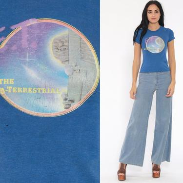 Vintage E.T. Shirt 80s ET Shirt 1982 Movie The EXTRA TERRESTRIAL Tshirt Tee Alien 1980s Vintage t Shirt Vintage Women Extra Small xs by ShopExile