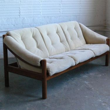 Danish Teak Floating Sofa by Domino Mobler by CoMod
