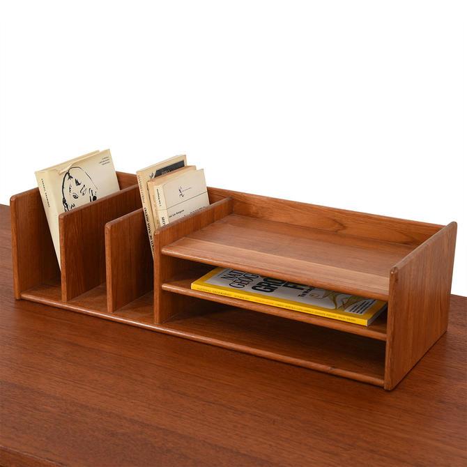 Danish Modern Desk Organizer in Teak by Pedersen & Hansen