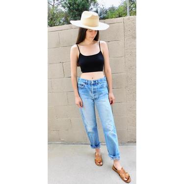 USA Levi's 501xx Jeans // vintage Levis medium light faded wash Levi 90s hippy 33 X 34 501 501s boyfriend 501's by FenixVintage