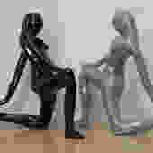 Jaru Black Grey Nude Female Sculptures 1980 by ilikemikes