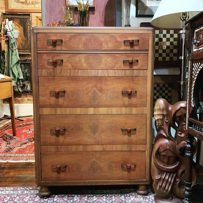 Art deco dresser with bakelite handles