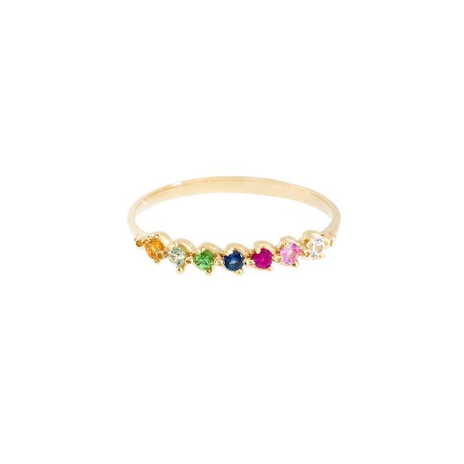 Multi Sapphire Anne Ring